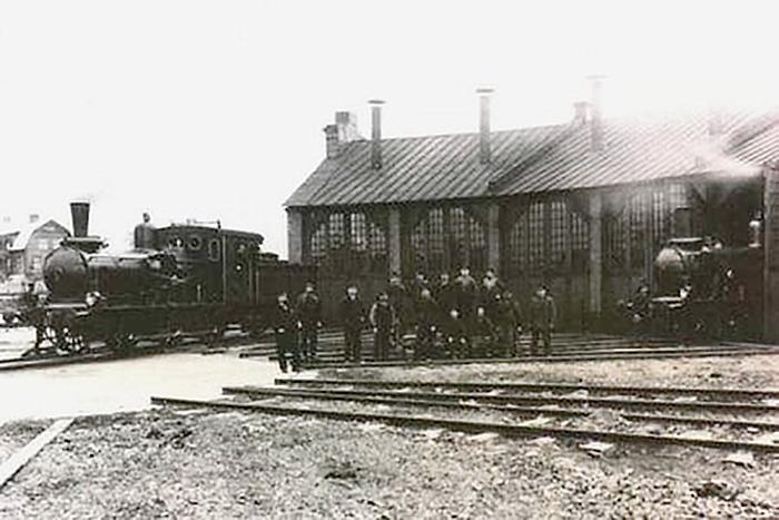 Sala lokstall år 1902